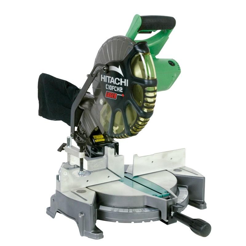Hitachi C10FCH2 Sierra de inglete de 10″ y 1520 W con guía laser