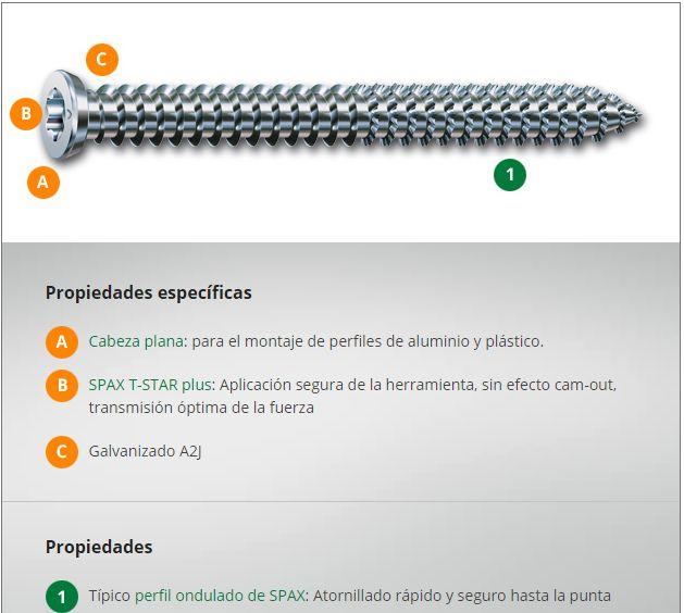 Tornillos Spax RA para concreto