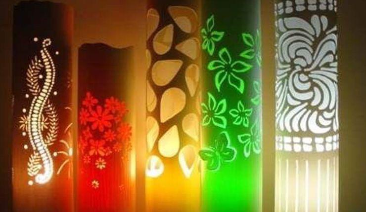 Lámparas de PVC (varios modelos sencillos)
