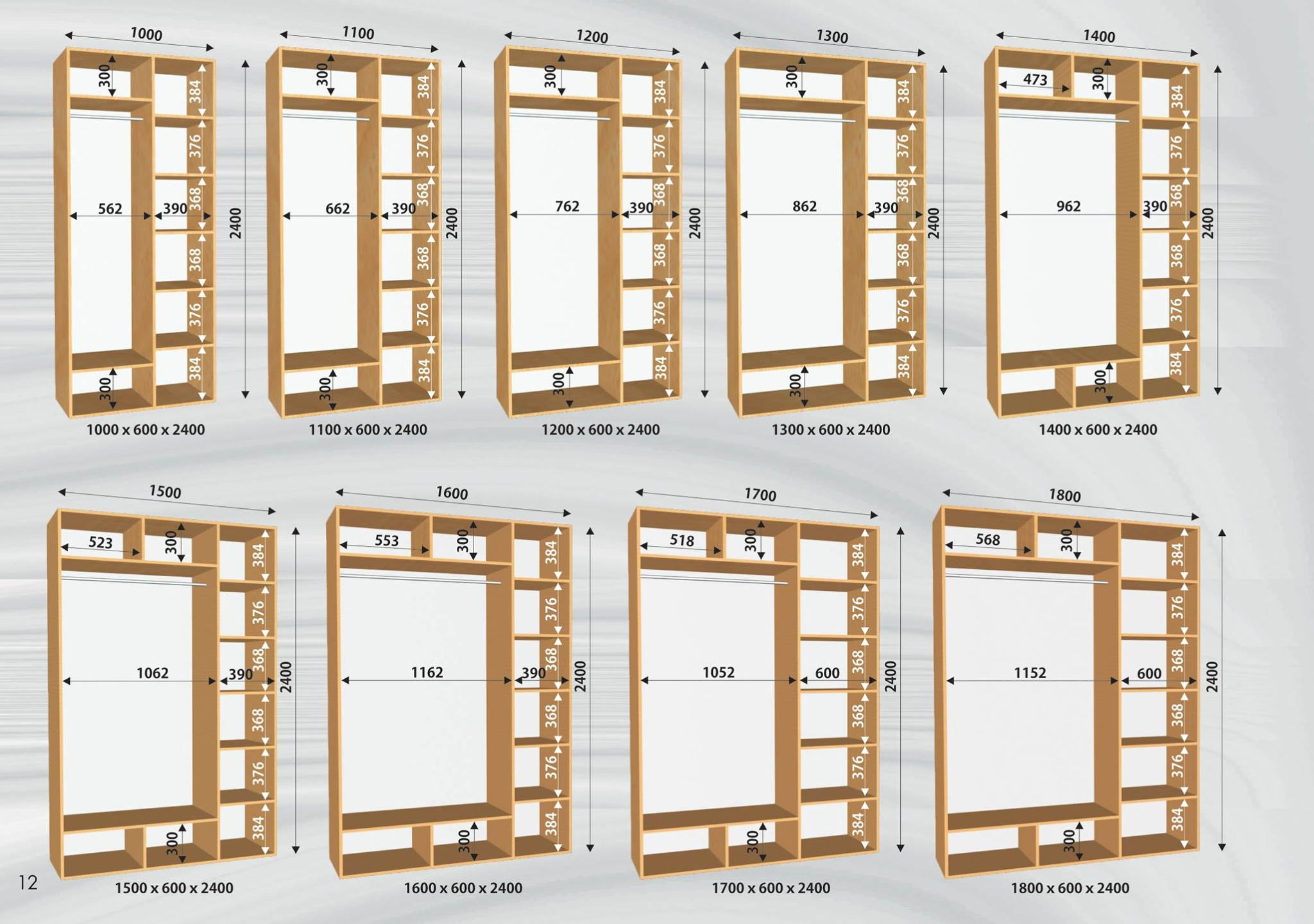 Medidas de closets de mdf triplay o madera for Interiores de closet de madera