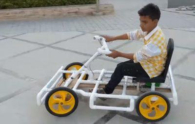 Go Kart con tuvos de PVC