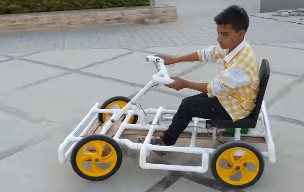 Videotutorial: Construye tu propio Go Kart con tubos de PVC y algunos otros materiales