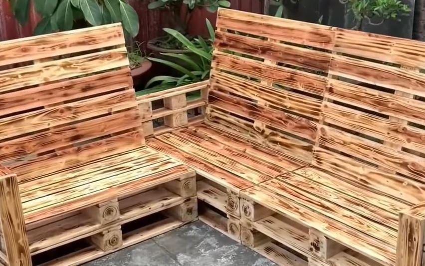 Sillón de palets o tarima de madera